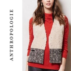 Anthropologie Cartonnier Sherpa Vest